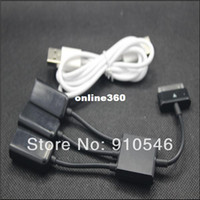 Cable HiFi Yes Wholesale camera connection kit 3 in 1 USB OTG Host Hub Cable Adapter For Samsung Galaxy note Tab 10.1 P7510 P5100 P3100 N8010