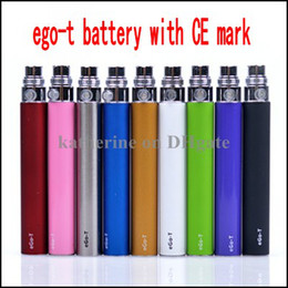 Wholesale Ego t Battery with CE certification mark ego t mah mah mah ROSH certification for Electronic Cigarettes Various colors DHL free