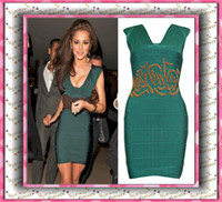 plus size club dresses - China Air Express Fashion Green Retro Gold Beading Party Dresses Sexy Plus Size Club Dresses Zuhair Murad Evening Dresses