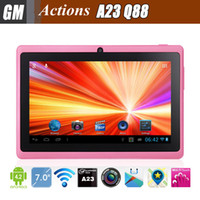 Wholesale Q88 Pro Allwinner A33 inch Tablet PC Android Quad Core Dual Cam GHz MB GB Large Battery