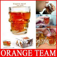 ECO Friendly bar glasses wholesale - set Creative Doomed Crystal Skull Head Vodka Whiskey Wine Shot Glass Drinking Cup Home Bar DrinkingWare Mug