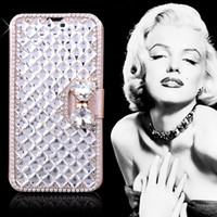Wholesale For Galaxy S5 Luxury Diamond Rhinestone Buckle Leather Flip Wallet Case Cover Credit Card Holder For Samsung Note S3 S4 I9300 i9600