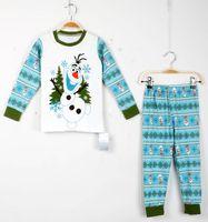 Olaf Pajamas Children Cotton Pyjamas long Sleeve + Pants 2Pi...
