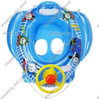 al por mayor balsa de la nadada del bebé-Bebé Niño Niño Recién Nacido Niño Niño Niña Nadar Piscina Barco Anillo Raft Flotador Tubo Asiento Trainer Seguridad Juguete Walker