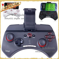 Wholesale New Design Ipega Wireless Bluetooth Game Joystick Handle Controller for Android iOS PC Cell Phone Black