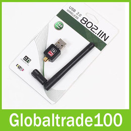 Wholesale Mini M USB WiFi Wireless Adapters Network Networking Card LAN Adapter Antenna Computer Accessories Software Driver Free DHL