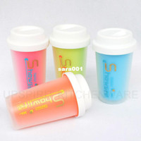 plastic cup with lid - plastic cup with silicone lid green Starbucks coffee cup plastic double wall portable mug novelty sports bottle