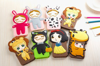 For Apple iPhone Silicone style 4 2014 Rinka doll Cartoon silicone case for iphone 4 4s 5 5s , soft high quality cell phone cases (H462)