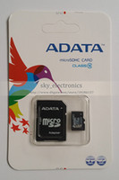 Wholesale DHL EMS Adata GB Class Micro SD TF Memory Card SDHC Cards with Adapter Retail Package Flash SD SDHC Cards Sky360 DH0999a