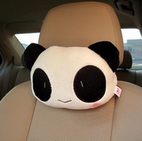 Wholesale High Quality Piece Cute Lovely Panda Pattern Car Seat Neck Headrest Pillow Soft Back Cushion