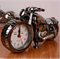 Wholesale Bike Motorcycle Train model Creative fashion Quartz Alarm Clocks Creative home gifts