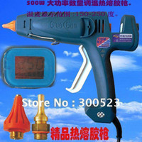 Brad Nail Gun Electricity Yes Wholesale - 400W digital display thermostat US plug hot melt glue gun,industrial glue gun, 1 pcs lot, free shipping