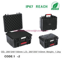 Plastic 280*246*156mm -30 degree -- 70 degree Wholesale - Fedex freep Plastic sealed waterproof safety case IP 67 degree safety portable security tool chest with Foma Rohs approved