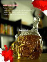 Wholesale New Arrvial ml Big Size Zombie Glass Decanter Zombie Wine Bottle Skull Bottle