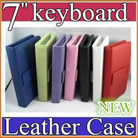 Wholesale q10pcs Leather Case with Micro USB Interface Keyboard for inch MID Tablet PC JP07