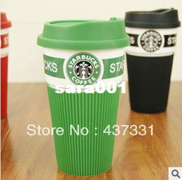 Wholesale oneT Starbucks insulating glass ceramic coffee tea milk mug cup creative fashion lovers cup with cover good gifts