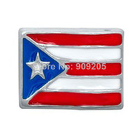puerto rico - New Arrival Zinc Alloy Silver Plating Fashion Puerto Rico Flags Charms For Floating Locket DIY