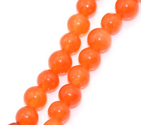 Wholesale Strands Agate Loose Beads Round Orange Yellow mm quot Dia