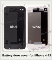 Wholesale 500 Back Glass faceplates shell Housing Rear Battery door cover for iPhone S back housing from China