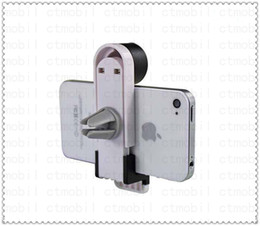 Wholesale White And Black Car Air Outlet Car GPS Navigation iPhone Air Vent Mount Bracket Adjustable Bracket Air Out cell phone Mount holder