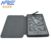 Wholesale Crazy Horse Original Business Style leather Case cover For Amazon kindle Kindle with built in LED light Screen Protector