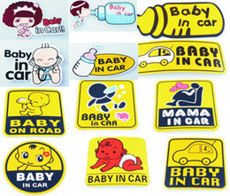 Universal Safety Car Stickers Tail Car Labels Baby in Car, Baby on Road, Mama in Car Tail Stickers Labels