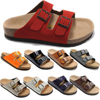 cheap slippers - Fashion Birkenstock Women Flat Sandals Platform Cheap Rome Sandals Casual Beach Summer Slippers High Quality