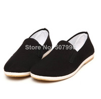 Wholesale Mens Chinese Martial Arts Shoes Slippers Plimsole Espadrilles Tai Chi Loafer New D