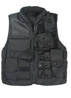 Men airsoft vest - US SWAT AIRSOFT TACTICAL HUNTING COMBAT VEST MEN BLACK NYLON STAND COLLAR WINTER MULTI POCKETS VEST
