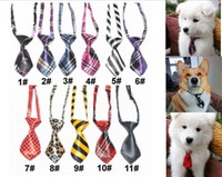 Wholesale Pop Puppy Dog Tie New Kids Adjustable Bowtie Multicolor Necktie Pet Comfy Cravat