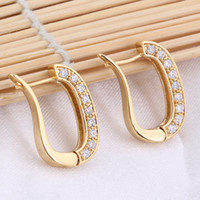 alternative b - Earring Women Lady Alternative White Stylish Hoop Popular Environmental Copper K Gold Plating Earring Jewelry Accessories ER0459 J B
