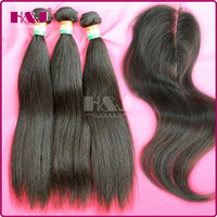 Mongolian Hair beijing hair color - beijing human hair bundles with closure straight brazilian virgin human hair lace clsorue top closure three bundles hair and one closure
