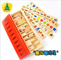 Wholesale Preschool Wooden Toys Category Boxes value of nursery school supplies toys teaching aids corresponding plate