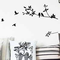 Wholesale Details about Birds amp Black Tree Vines Removable Wall Sticker Decal Mural Home Decor Vinyl Art
