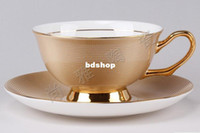 Wholesale new hot wedding gift european style types bone ceramic coffee cup drinkware tool coffee mug saucer spoon