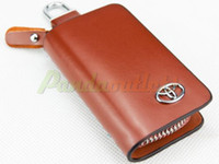 Wholesale Details about Real Top Quality Cow Genuine Leather Car Key Holder Case Bag Cover FOR TOYOTA Retail