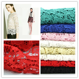 Wholesale 120CM wide m length High grade three dimensional Embroidery Hollow out Lace Fabric factory supply