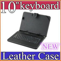 leather case keyboard - 300PCS NEW Black Leather Case with USB Interface Keyboard for MID Tablet PC JP10