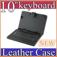 Wholesale 200PCS NEW Black Leather Case with USB Interface Keyboard for MID Tablet PC JP10