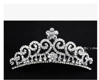 Tiaras&Crowns Rhinestone/Crystal  Wedding Bridal crystal veil tiara crown headband CR163