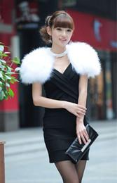 Wholesale Noble Bridesmaid Basic Outerwear Fur Shawl Wrap Vest Gilet Bridal Winter Shoulder Height Waistcoat Woman Sweater Rabbit Furshawl Cape