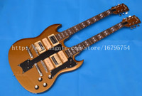 Solid Body 6 Strings Mahogany wholesale and retail 6strings double-head SG mahogany body electric guitar F-1492