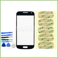 Wholesale Front Screen Glass Lens Cover Screen Digitizer Touch Screen Cover Replacement For Samsung Galaxy S4 mini i9190 i9195 i9192 Tools M Sticker