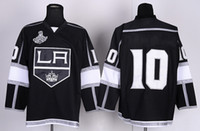 Ice Hockey Men Full Cheap Kings #10 Mike Richards Black Home Jersey with 2014 Stanley Cup Final Patch High Quality Men's Ice Hockey Jerseys Stitched Jerseys