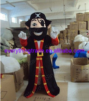 Mascot Costumes Unisex Costum Made 2014 Hot Sale Pirate cartoon Mascot Costume halloween Mascot Costume Fancy Party Dress Cartoon Costume Free Shipping