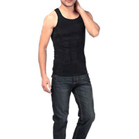 Wholesale S5Q Men s Slim Body Shaper Belly Fatty Underwear Vest Shirt Corset Compression AAABSO