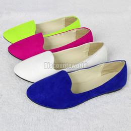 Wholesale Hot Sales New Ladies Womens Faux Suede Flat Ballet Ballerina Slip Pump Dolly Shoes Pumps Ex46