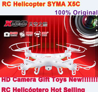 OEM X5C Battery SYMA X5C 100% Original TOP Quality High Speed Remote Control RC Helicopter Quadcopter Drone Ar.Drone With HD Camera Gift Toys RC Helicóptero