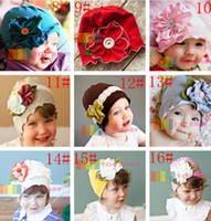 Wholesale New Infant Baby Boys Girls Hats Children Beanies Flower Caps Toddler Newborn Hair Accessories