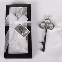 Wholesale Good Price Key to My Heart Wedding Party Gift Bottle Opener Silver With Gift Package Beer Wine Jar Openers Free Shipipng